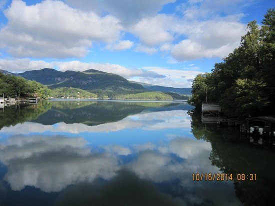 The Lodge on Lake Lure: From the dock