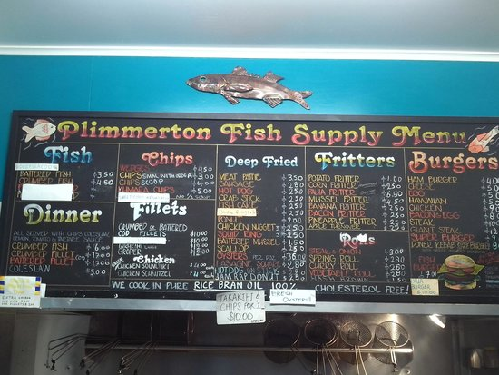 Porirua, New Zealand: Menu