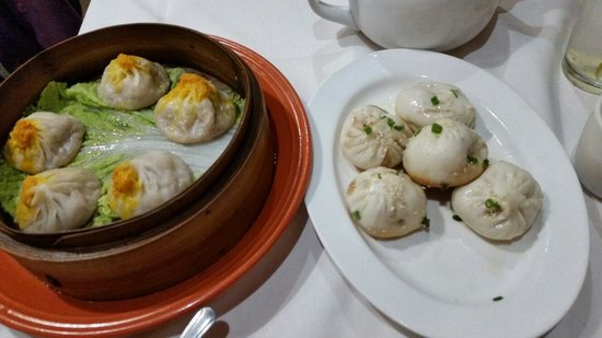 Pork and shrimp soup dumplings and steamed pork buns for Ala shanghai chinese cuisine menu