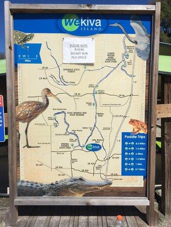 Wekiva Island: River map