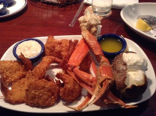 Red Lobster: coconut shrimp and crab legs. mmmmmm