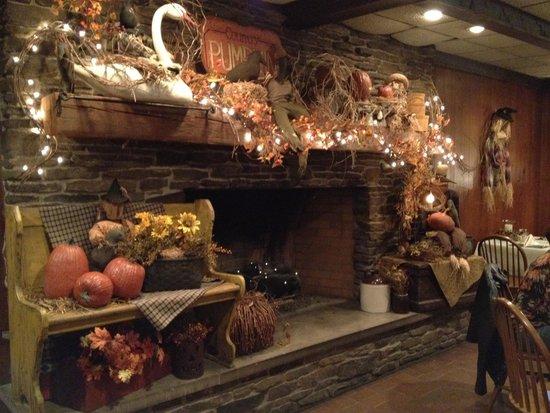 J Barn Country Inn Beautiful Fall Fireplace In Main Dining Room
