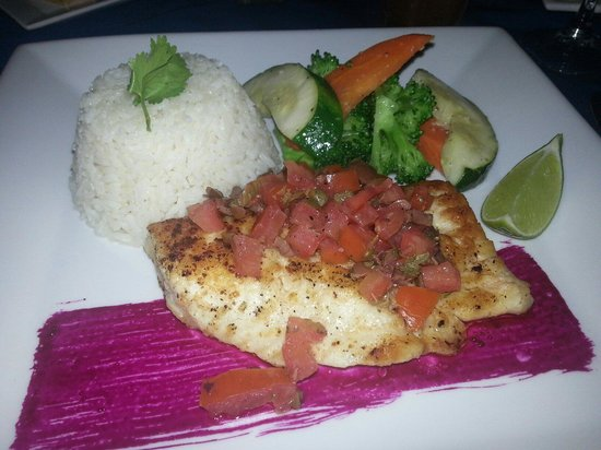 Pelican Bay Restaurant & Bar: My delicious grouper.