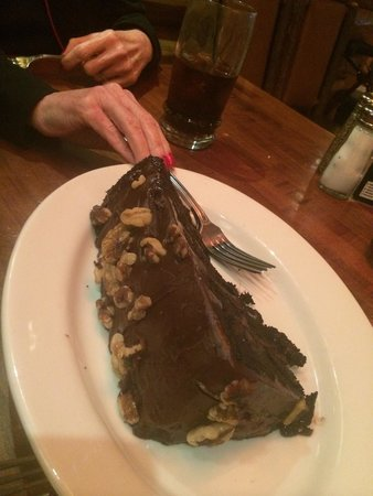 Claim Jumper: Slice of the chocolate motherload cake