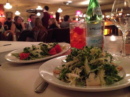 Bond 45 Italian Kitchen Steak & Seafood: Sallad and pasta at Bond 45