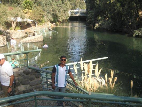 Tiberias, Israel: Vista parcial do Rio Jordão !!!
