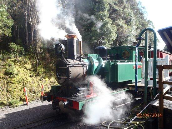 West Coast Wilderness Railway: Steam train