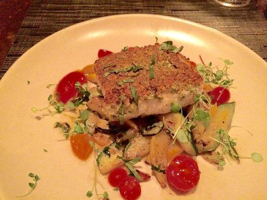 PRINT: Pistachio crusted halibut