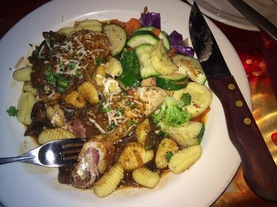Live Oak Cafe: Pork rolls w gnocchi
