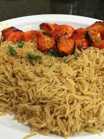 Gyro N Kabob : Chicken shish kabob with brown rice