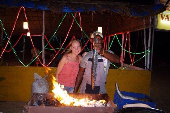 The Goa Village Inn : Вечером на пляже