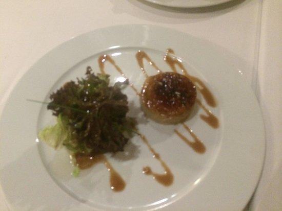 Infinit Restaurant: Tarrina de foie y compota de manzana