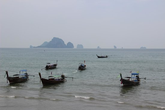 Ao-Nang Sunset Hotel: View from the beach about 400M away