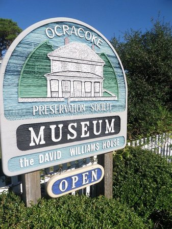 Ocracoke Preservation Museum: the museum's sign