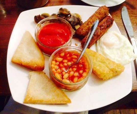 Barons Court Hotel: delicious veggy breakfast