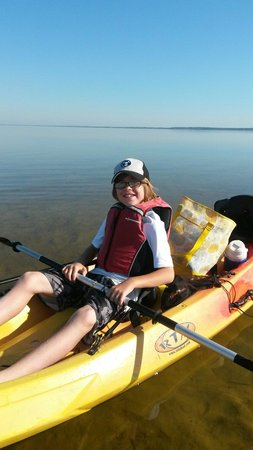 Happy Ours Kayak and Bike Outpost: My son on our kayaking trip.