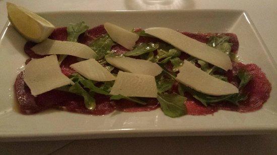 Villa Roma: beef carpaccio