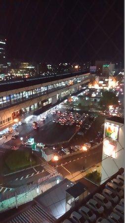 Hotel Route Inn Morioka Ekimae: 13階部屋からの眺め、駅前です。