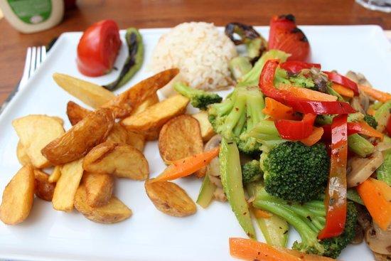 Green Corner Cafe and Restaurant : piatto vegano