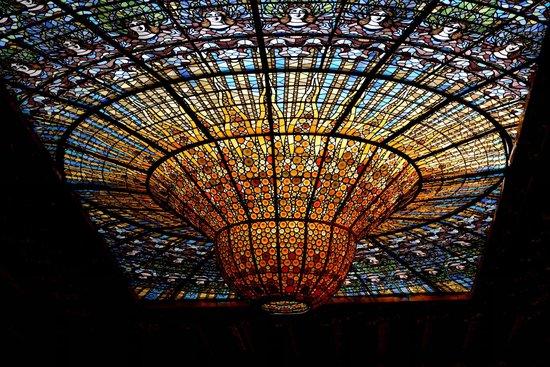 Palais de la Musique Catalane (Palau de la Musica Catalana) : Ceiling