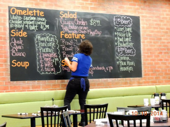 Lincoln Square Pancake House: Drawing up the specials board