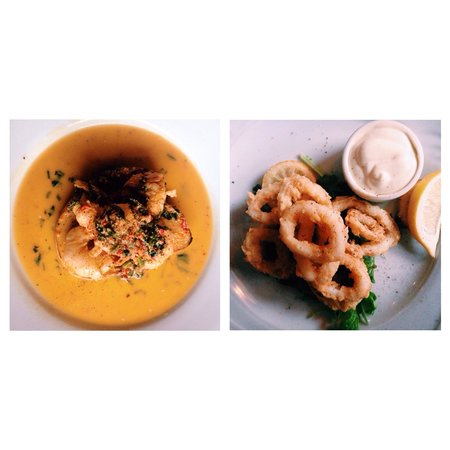 Don Marco Restaurant: King prawns and calamari for starter