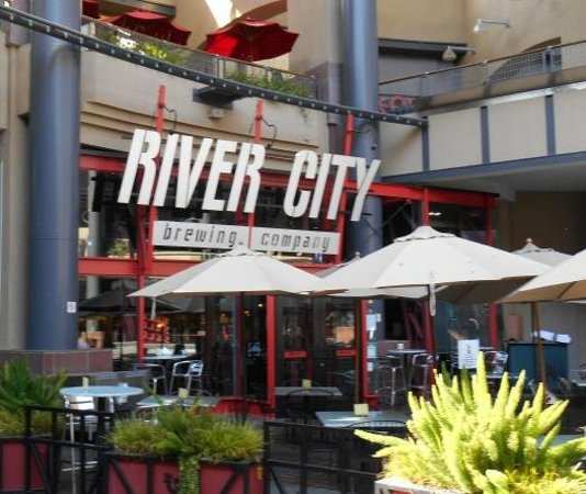 Outdoor area of River City Brewing Company