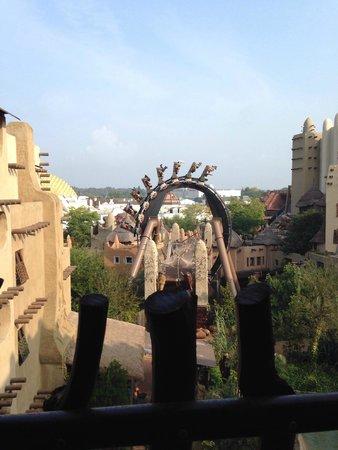 """Hotel Village Matamba: Blick vom Zimmer zur """"Black Mamba"""""""