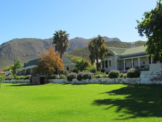Montagu Vines Guesthouse : View of our accommodation (right) and the main house