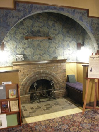Riordan Mansion State Historic Park : Fireplace to warm up after arriving - in museum mansion