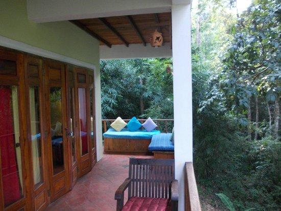 Zen Namkhan Boutique Resort: Room Balcony