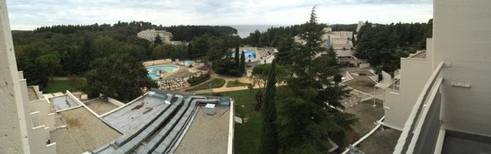 Valamar Diamant Hotel : View from the balcony - lots of concrete and some Adriatic far away