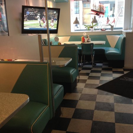 The Diner: You're able to watch football games here