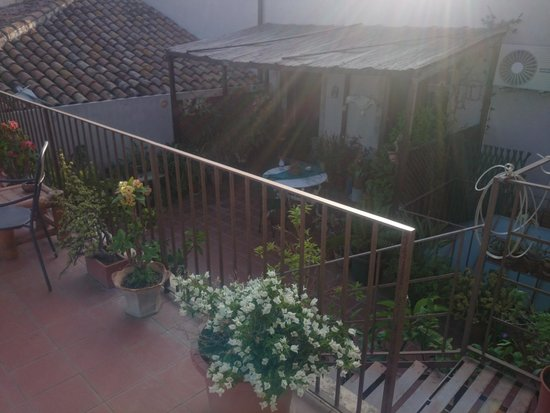 Crociferi B&B : Terrace garden