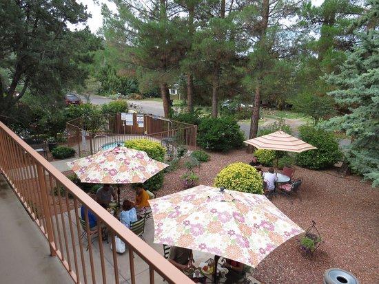 Baby Quail Inn: giardino dove far colazione