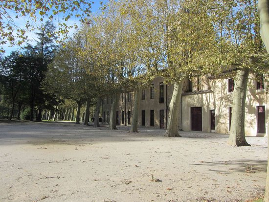 Hotel Abbaye Ecole de Soreze : Vue depuis le parc