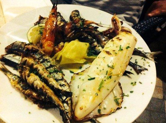 Bocciola: grigliata di pesce