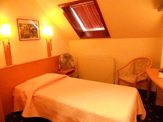 Hotel Opera Bruxelles : エアコンはなしで、扇風機がおいてありました
