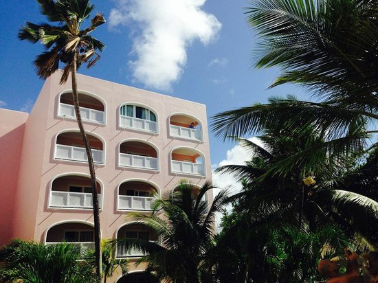 Our room--top floors, 2 right windows