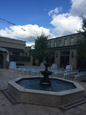Patio Set Up For A Wedding Picture Of Southern Hotel Covington Tripadvisor