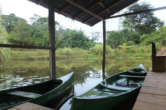 Laguna del Lagarto Lodge: canoe