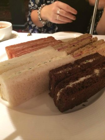 The Grill at Flemings Mayfair: Selection of finger sandwiches