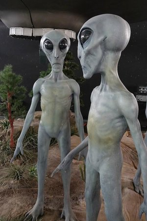 Roswell, Nouveau-Mexique : Alien exhibit but not a lot of photographic options at the UFO Museum itself