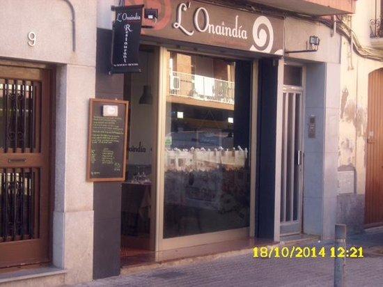 L'Onaindia Restaurant: La fachada.