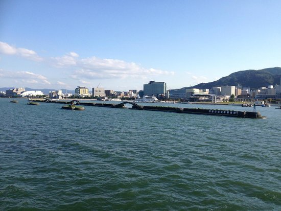 Biwakokisen : View of city of Otsu from the cruise ship