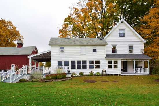 The Inn At Mount Pleasant Farm: The Inn, seen from the fields