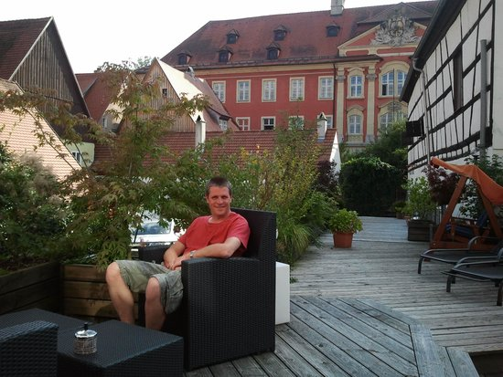 Goldenes Lamm: Enjoying the roof terrace
