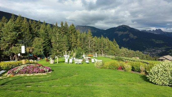 Hotel Pinei: Il magnifico giardino panoramico del Panider Sattel - Settembre 2014