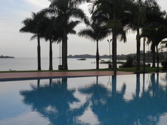 Munyonyo Commonwealth Resort: The Pool and Lake Victoria