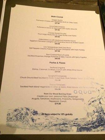 Melia Nau Beach All Inclusive Menu From Aqua Restaurant